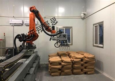 腻子粉拆垛机器人使企业节省人力降低了人工成本