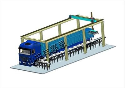 饲料袋全自动装车机是饲料企业增产增效的理想工具