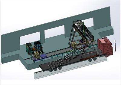 淀粉全自动装车机能代替人工完成自动化装车任务